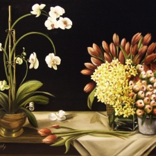 Orchid and Tulips